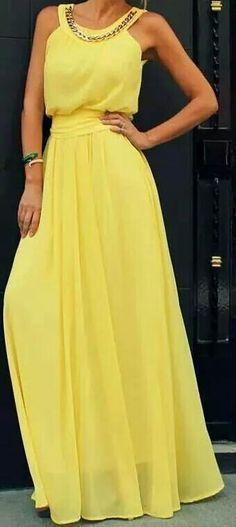 Cute fashion outfits ideas – Fashion, Home decorating Yellow Maxi Dress, Dress Skirt, Dress Up, Dress Prom, Bridesmaid Dresses, Prom Dresses, Evening Dresses, Summer Dresses, Formal Dresses