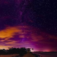 Star gazing at the Noosa River Mouth...