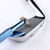 Golf Club Groove Sharpener with 6 Heads - Ideal for Optimal Backspin and Ball Control - Perfect Tool for all Irons - Pitching, Sand, Lob, Gap, and Approach Wedges and Utility Clubs - Blue - Lifetime Warranty - http://tonysgolf.com/2015/02/03/golf-club-groove-sharpener-with-6-heads-ideal-for-optimal-backspin-and-ball-control-perfect-tool-for-all-irons-pitching-sand-lob-gap-and-approach-wedges-and-utility-clubs-blue-lifetime-w-2/