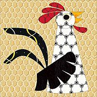 This site has free applique designs that you can print off for your own use. Bird Applique, Applique Patterns, Applique Quilts, Applique Designs, Quilt Patterns, Chicken Quilt, Chicken Art, Chicken Items, Patch Quilt