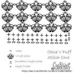 Объемный снуд крючком   Вязание для женщин   Вязание спицами и крючком. Схемы вязания.