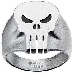Marvel Comics Marvel Stainless Steel Punisher Skull Ring