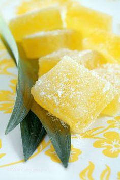 Pineapple pate de fruit