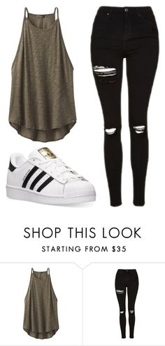 """Untitled #498"" by cuteskyiscute on Polyvore featuring prAna, Topshop and adidas"