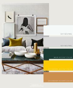 House Color Palettes, Gold Color Palettes, Modern Color Palette, Colour Pallete, Modern Colors, Interior Design Color Schemes, Room Color Schemes, Room Colors, House Colors