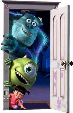 Sulley, Mike & Boo in Monster's inc.