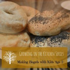 Small People Big Ideas - Growing in the Kitchen Series: Making Bagels with Kids Age 1+ in 90 mins. Easy, delicious, fluff, chewy balls of yumminess! Made by you and your little ones. The ultimate sensory activity including, all the beginnings of science and maths - measuring, pouring, stirring, kneading, waiting, taking turns, the list goes on!