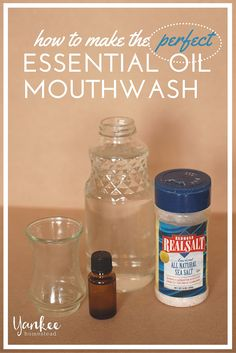Easy to make, easy to use. Skip the sketchy ingredients and treat your mouth to this simple (yet powerful) mouthwash with essential oils.