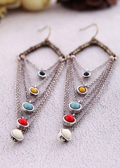 Chic Alloy Dangle Earrings. Cute store too!