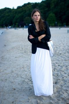 White maxi summer skirt by patkas on Etsy, $45.00