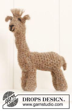 """Hæklet DROPS Alpaca i """"Brushed Alpaca Silk"""". ~ DROPS Design"""