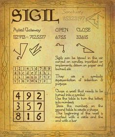 <|:) Witches Sigil