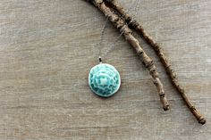Blue pendant necklace, blue necklace, turquoise necklace, turquoise pendant, ceramic necklace, pendant necklace, gift for her, gift woman - pinned by pin4etsy.com