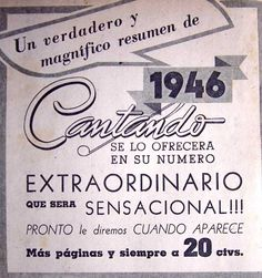 Revista Cantando 1946