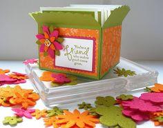 Kari Linder, Stampin' Essentials blog, Order Stampin' Up! Online paper crafting ideas and tutorials: Scallop Envelope Box and Sneak Peek