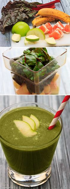 Step-by-Step: Swiss Chard Green Smoothie - The Perfect Cold Remedy // wishfulchef.com