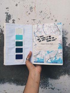 (Via Instagram: ohareeba) Art journal - Colors by Halsey