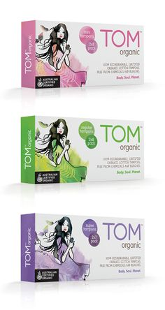 Gorgeous packaging T.O.M Organic Brand.  Great colors great soft imaging IMPDO.