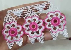 Manufacture of floral towels Crochet Curtains, Crochet Doilies, Crochet Flowers, Crochet Lace, Fabric Flowers, Crochet Trim, Crochet Borders, Crochet Squares, Filet Crochet