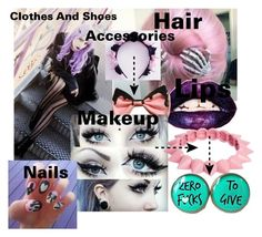 """""""How To Be: Pastel Goth"""" by ximena-c ❤ liked on Polyvore"""