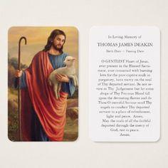 Prayer Cards For Funeral, Memorial Cards For Funeral, Funeral Prayers, Funeral Thank You, Catholic Prayers, Catholic Saints, Saint Anthony Of Padua, Burning Love, Jesus Prayer