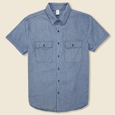 Indigo Camp Shirt - Indigo Stripe