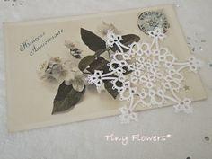雪の結晶 ひとつめ |Tiny Flowers* にゃんことてしごと ~猫とタティングレース~