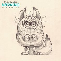 Night Cribbler.  #morningscribbles   출처: CHRIS RYNIAK