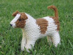 Jack Russell Dog Knitting Pattern, PDF by on Etsy Jack Russell Terriers, Jack Russell Dogs, Knitting Projects, Knitting Patterns, Crochet Patterns, Knitting Toys, Knitting Machine, Knitting Ideas, Crochet Ideas