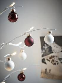 Mini Baubles - Cream