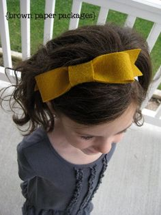 {felt bow and flower headbands}