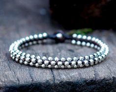 Silver Bead Anklet by brasslady on Etsy, $9.00
