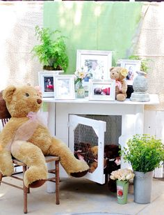 Heavenly Blooms: Whimsical and Vintage Chic Teddy Bear and Daisy theme First Bithday Party
