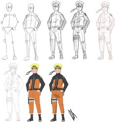 """I'm back again, and with something you've all been requesting: my first """"How to Draw Naruto Characters"""" official tutorial. How to Draw Naruto Characters - Part 1 Neji Anime Naruto, Sasuke Chibi, Naruto Cute, Naruto Shippuden Sasuke, Naruto And Sasuke, Naruto Drawings Easy, Naruto Sketch Drawing, Anime Drawings Sketches, Anime Sketch"""