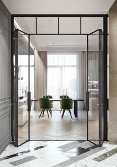 33 Ideas For Apartment Door Design Cool Apartments, Luxury Apartments, Luxury Homes, Modern House Design, Modern Interior Design, Home Design, Wall Design, Modern Classic Interior, Interior Ideas