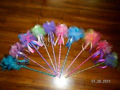 Items similar to Fairy Wands great for Party Favors or just for everyday fun on Etsy Fairy Birthday Party, Barbie Birthday, Girl Birthday, Birthday Ideas, Princess Wands, Fairy Wands, Tinkerbell Party, Diy Wand, Fairy Crafts