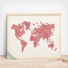 Cat world map wall decor poster starting price 990 click photo cats world map print cat world map world map poster by vocaprints prices start gumiabroncs Choice Image