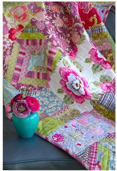love this quilt-- Amy Butler Gypsy Caravan  http://www.amybutlerdesign.com/pdfs/Original_Gypsy_Caravan_Quilt.pdf