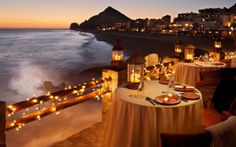 candlelit dinners on the peir
