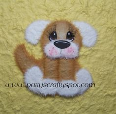 Oliver the Dog Tear Bear Paper Piecing Embellishment by babygirl24