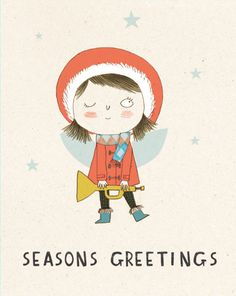 Christmas Fairy Card by KateHindley on Etsy, £3.00