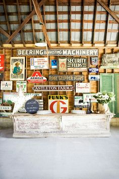 I like interiors that include vintages signs.