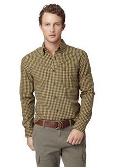 Arrow Tartan Plaid Casual Button-Down Shirt