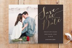 Cottonwood Save the Date Cards by Eric Clegg at minted.com