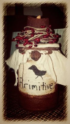 Primitive Tin with Flameless Candle by CountryViewPrimitive, $12.00