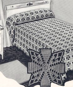 Jenny Lind Motif bedspread pattern for sale on Vintage Home Arts