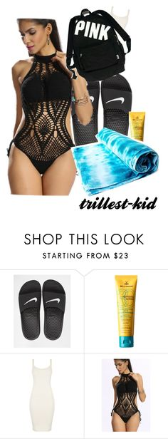 """Untitled #141"" by trillest-kid ❤ liked on Polyvore featuring NIKE, MDSolarSciences, BLQ BASIQ and Victoria's Secret"