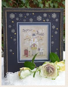 "This kit from Shepherd's Bush includes the cross stitch pattern titled ""Gray Snowman"" that is part of an on-going series.  This snowman is a..."