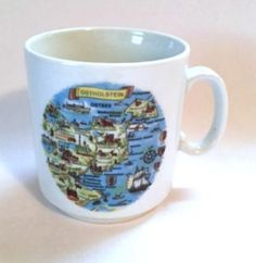 Ostholstein Germany Mug Towns Cities Map Boats Ocean Crown Baveria Coffee Cup