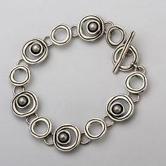 B00822SP SHABLOOL ISRAEL Didae Handcrafted FW Pearl Sterling Silver 925 Bracelet #Shablool #ChainLink